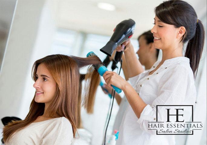 A Woman in Hair Salon Doing Hair Style