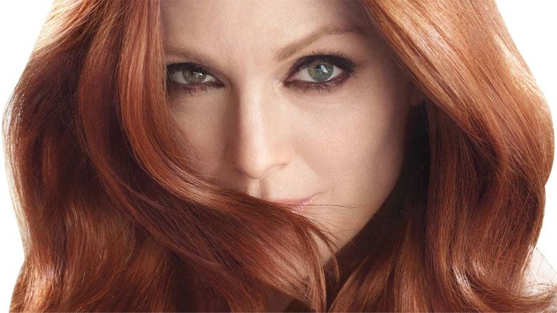 A Woman With Natural Red Hair