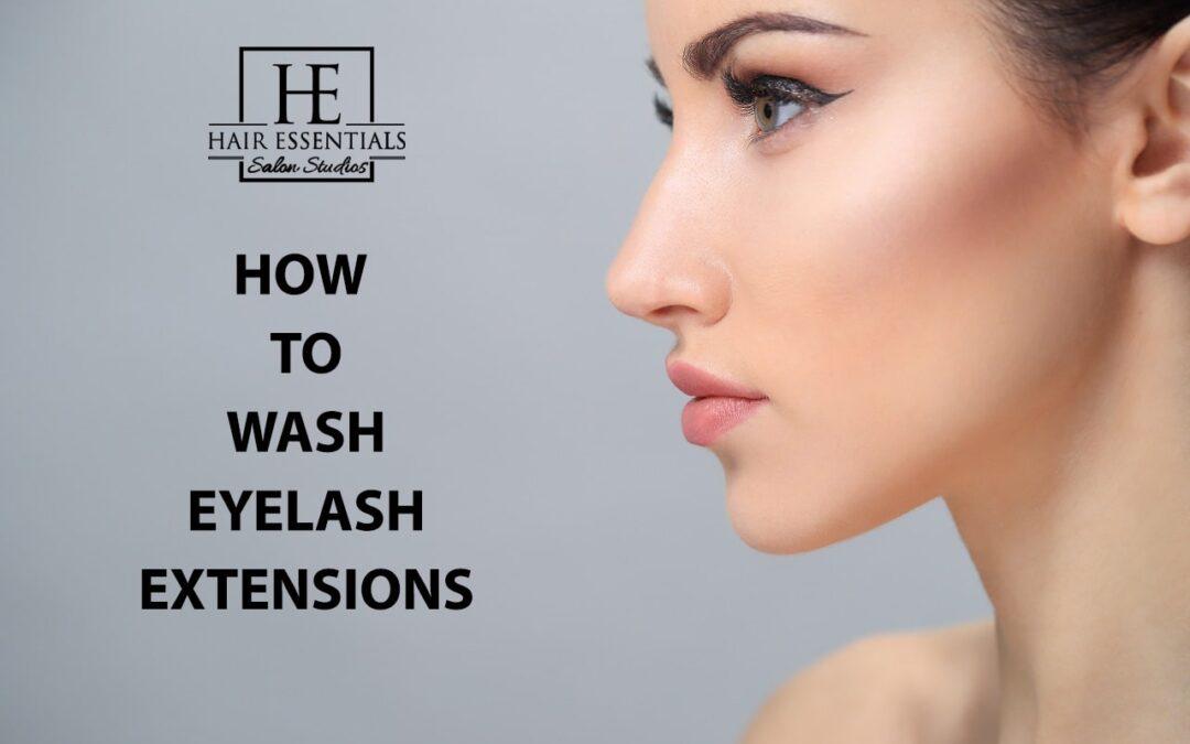 Wash Eyelash Extensions